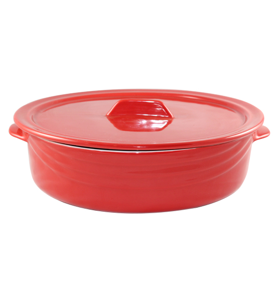 Red Casserole Large