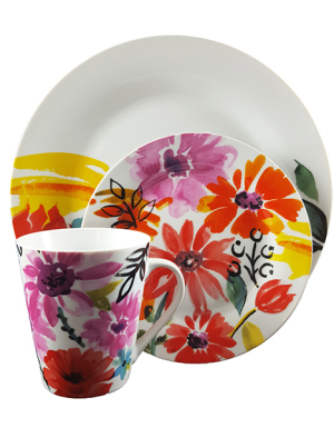 Floral Decal Dinnerset
