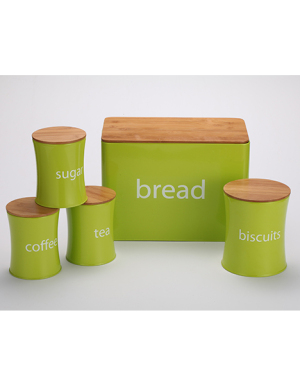 5PC Green Storage Set with Bamboo Lids
